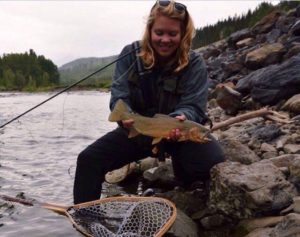 A nice Cutthroat Trout from the Elk River.